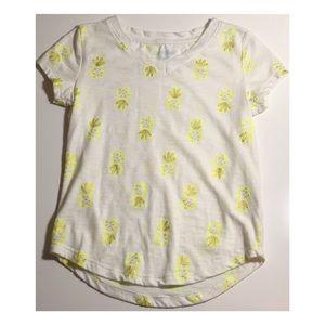 Cat & Jack Girls Pineapple Tee Size XS (4/5).